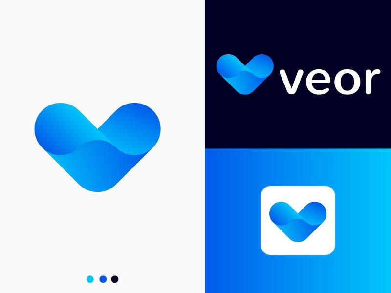 veor logo - V letter logo bold 2d web illustrator lettermark v letter branding design branding concept branding logo modern logo vector logo mark branding identity branding business symbol abstract modern gradient logo