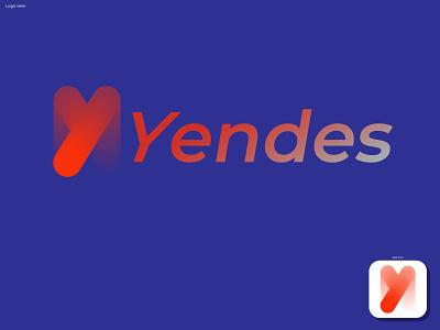 Yendes logo abstract design illustration branding identity symbol gradient modern 3d motion graphics branding logo graphic design ui