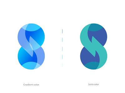 Numbers Design - Eight mark illustration design branding identity branding symbol abstract modern gradient logo