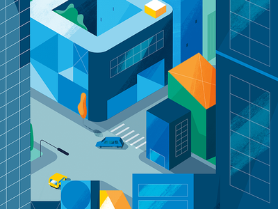City cars flat textures colors google builder career digital city