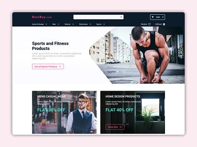 Online Store Design Concept web ux ui design