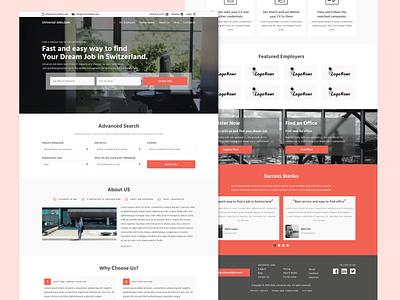Job Search Website Landing Page website concept figma landingpage ui design ui