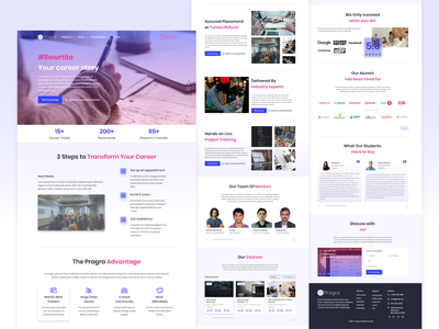 Landing Page Concept for Online Learning Website online learning website concept ui design ui landingpage design figma web ux