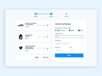 Daily UI 002/100 - Credit Card Checkout dailyui ui design web ui ux figma