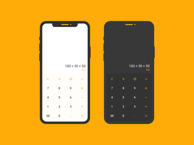 Daily UI 004/100 - Calculator mobile ui light dark design ui ux figma dailyuichallenge dailyui