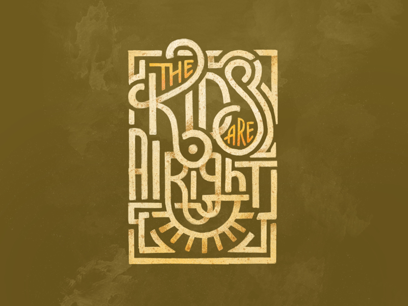 The Kids are Alright allthetags handlettering type kids type deco lettering procreate