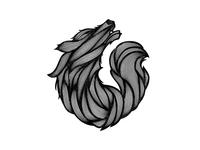 JRM Wolf Final Textured BW dribbble