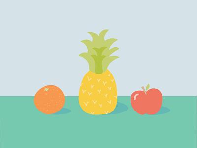 Playful Fruit fruit bright healthy orange apple pineapple colorful playful food