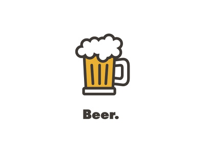 Beer. drink icon alcohol beer playful