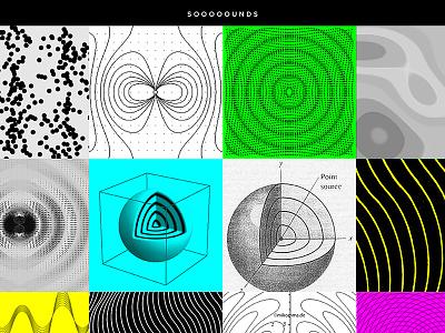 Soooounds pattern web neon sounds