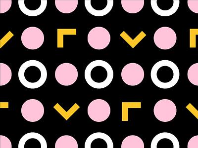 Yellow/Pink Pattern No. 1 shape color pattern