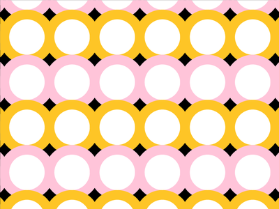 Yellow/Pink Pattern No. 2 shape color pattern