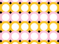 Yellow/Pink Pattern No. 2