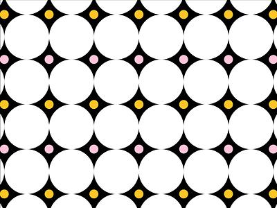 Yellow/Pink Pattern No. 4 pink yellow dots circles shape color pattern