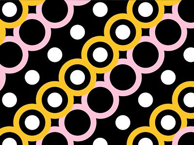 Yellow/Pink Pattern No. 5 pink yellow dots circles shape color pattern
