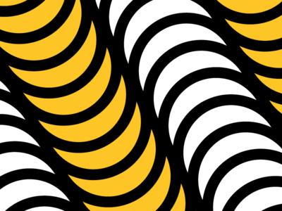 Yellow/Pink Pattern No. 7 yellow dots circles shape color pattern