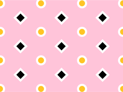 Yellow/Pink Pattern No. 8 pink yellow dots circles shape color pattern