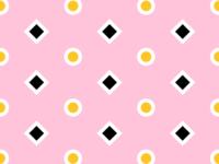 Yellow/Pink Pattern No. 8