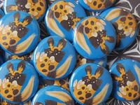 Joe Feliciano African Painted Dog Pin-back Buttons