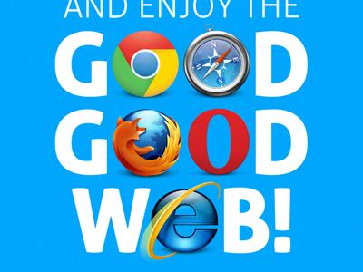 Good Good Web website blue css3 html5 chrome safari firefox opera ie9