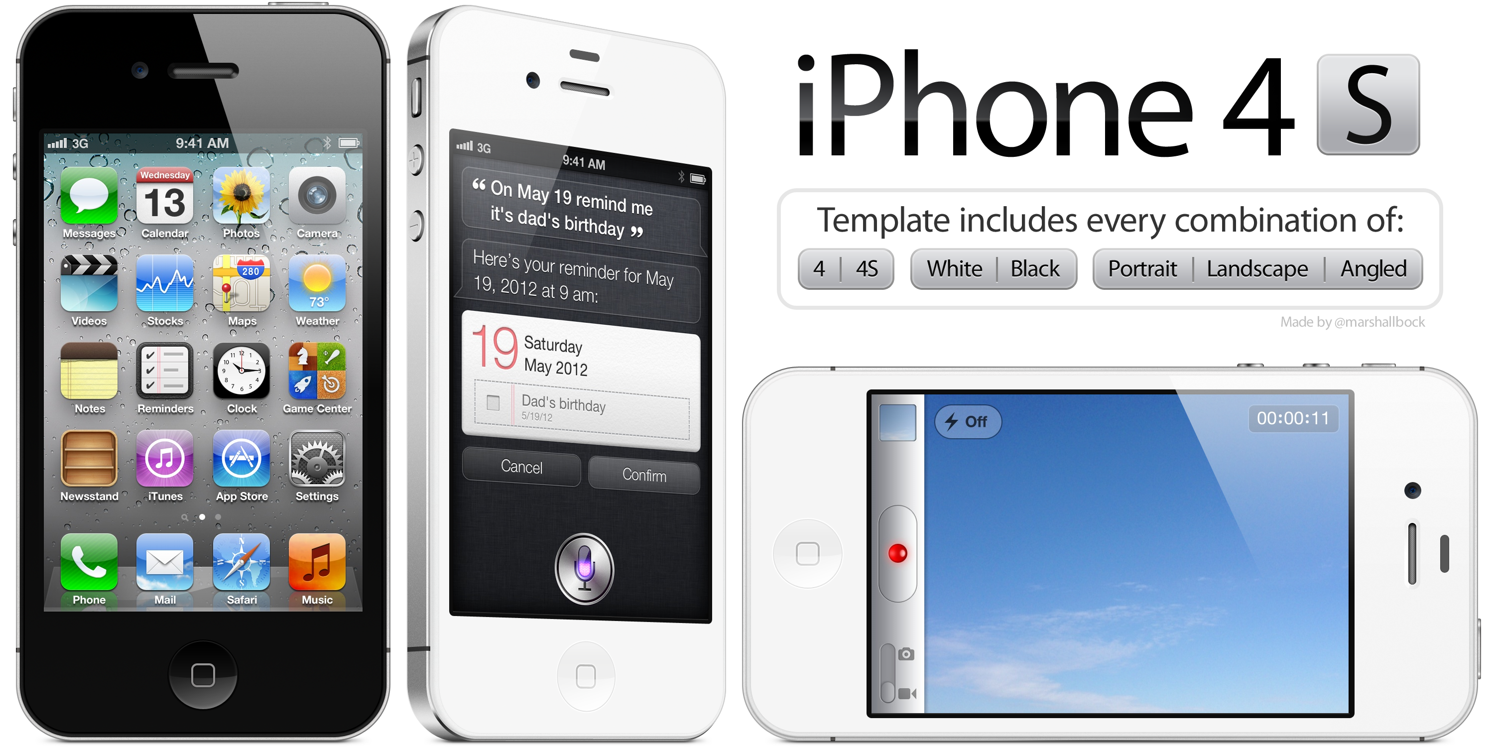 Iphone4s template