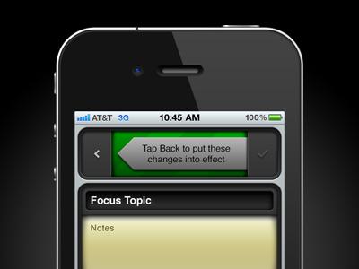 Tap Back iphone app ui interface dark green photoshop helvetica