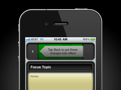 Tap Back iphone app ui interface dark green photoshop helvetica
