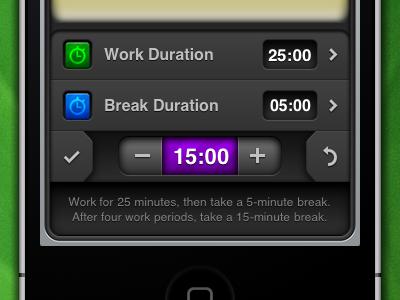 Phocus Durations ui interface iphone app