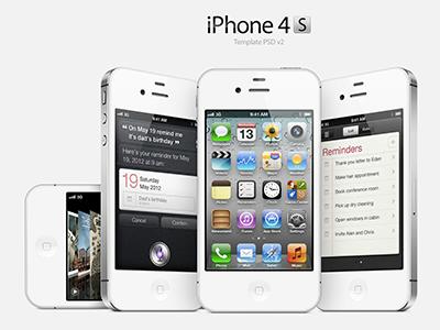 iPhone 4S Template v2 apple iphone design freebie