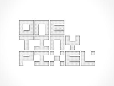 One Tiny Pixel minimal logo white grey