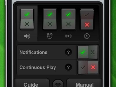 Phocus Settings iphone app interface ui