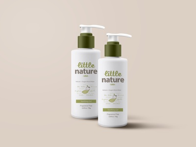 Little Nature Baby & kids skincare products graphicdesign branding design identity design packagedesign