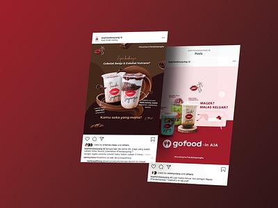 Instagram ads beverage design ads social media pack instagram post