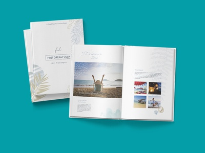 Villa Booklet graphic design book design layout design book design