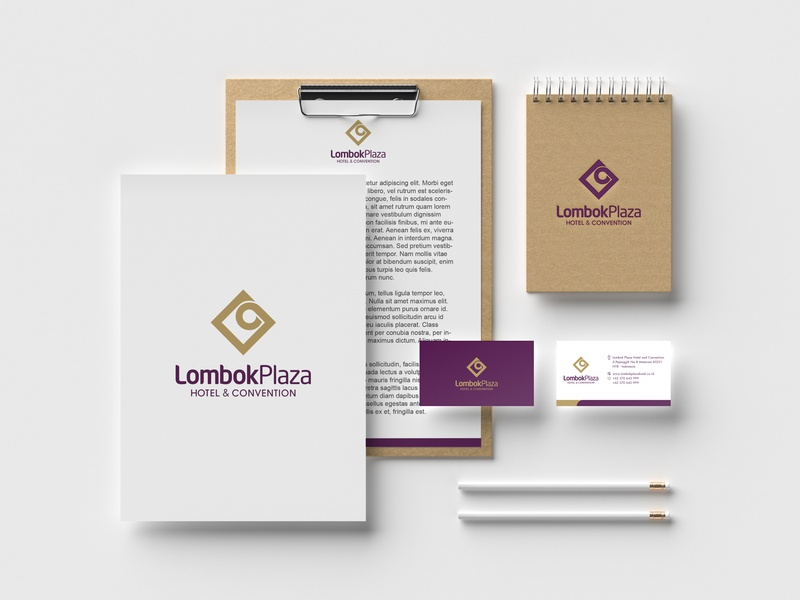 Lombok Plaza Brand Identity branding hotel branding logo logodesign corporate identity hotel