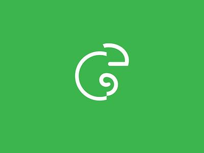 green chameleon minimalism brand identity modern brand design symbol icon design simplicity chameleon brand logo art animals animal green