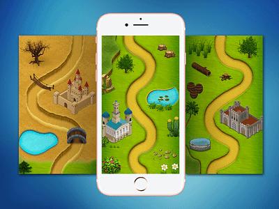 2D Game Map level mockups fiverrgigs game map level design fiverr flat illustration game design game art art