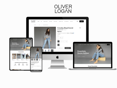 Shopify e-commerce website and mobile app clothing design apparel design appdevelopment mobileappdesign ecommerce website uxdesign mobileappdevelopment shopify store ios app ecommerce design