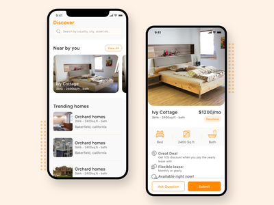 iOS App Development for House hunting lineicons rental app mobileappdesign uxdesign ios app ios mobileappdevelopment appdevelopment