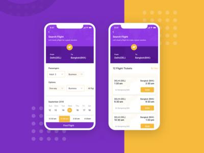 Flight Booking iOS App