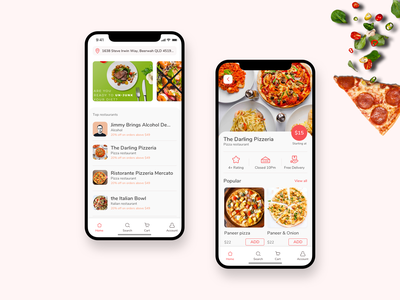 Food Delivery Service iOS App uxdesign food mobileappdesign appdevelopment food service food app ios app