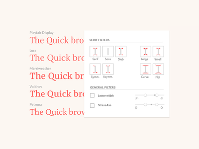 Fontsearch search filter typography fonts side project