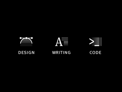 Black and white gradient icons drop cap vector terminal typography ff meta meta writing deign code gradient icons icon