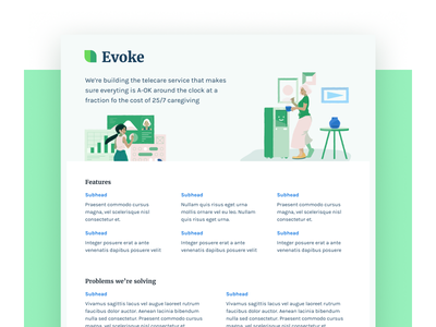 PDF one pager green karla merriweather pdf robot illustration