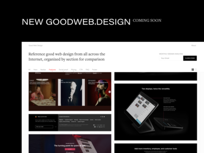 New Good Web Design form email layout grid acumin freight reference gallery goodwebdesign
