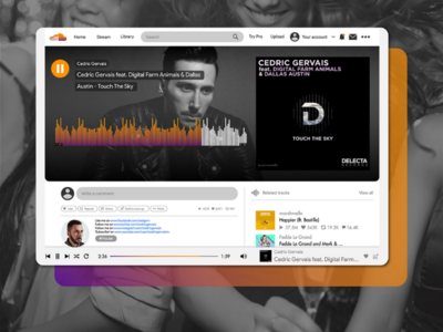 SoundCloud Logo New look photoshop logo inspiration illustrator identity graphic-design creative branding behance adobe