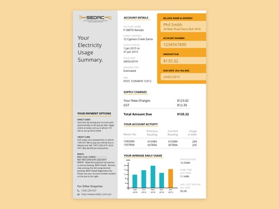 Electricity Usage Billing Report