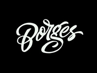 Borges lettering draft