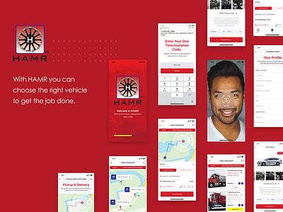 Truck Booking Mobile app ux design ui logo flat minimal app