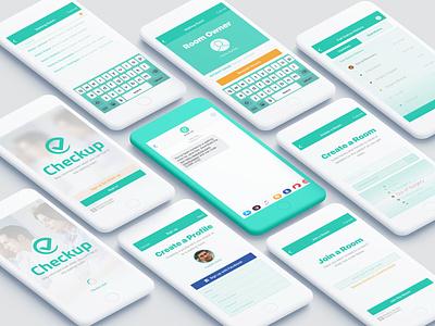 CheckupApp icon branding logo flat ui minimal design app